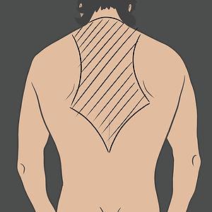 Tetování mezi lopatky