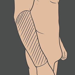 Tetování na vnější stranu předloktí