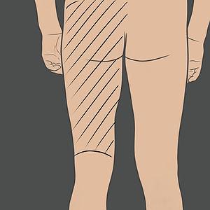 Tetování na hýždě a zadní stranu stehna