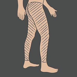 Tetování na celou nohu