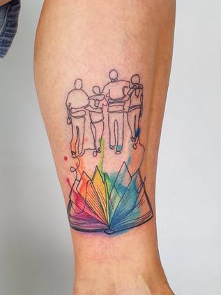 family book iris - watercolor tattoo - watercolor tattoo - black house tattoo prague
