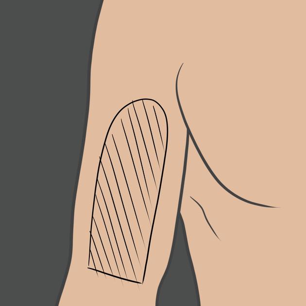 Tetování na přední stranu bicepse