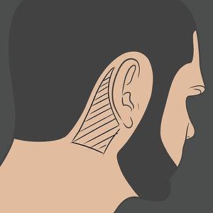Tetování za uchem