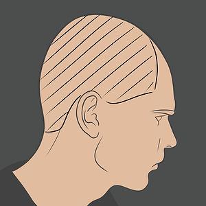 Tetování na boční části hlavy