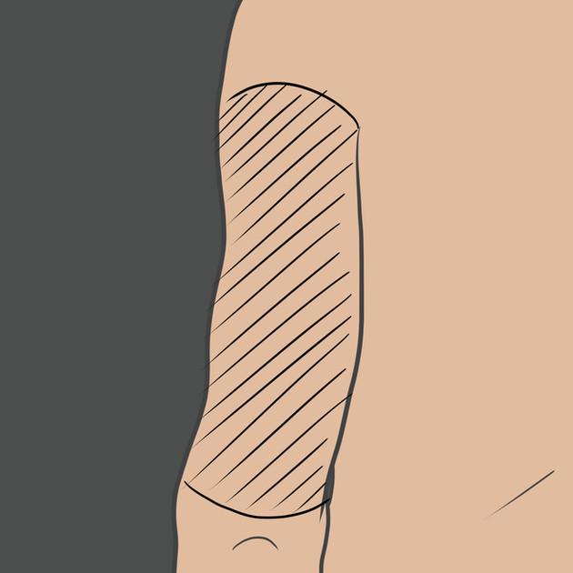 Tetování na paži zezadu (Triceps)
