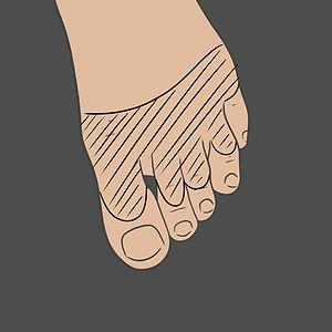 Tetování na prst nohy