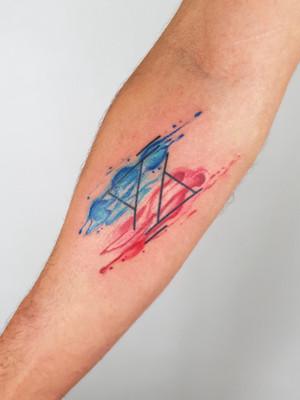 roman numerals - watercolor tattoos - watercolor tattoos - black house tattoo prague