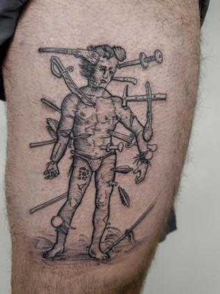 Punisher - - Linework Tattoos Black House Tattoo