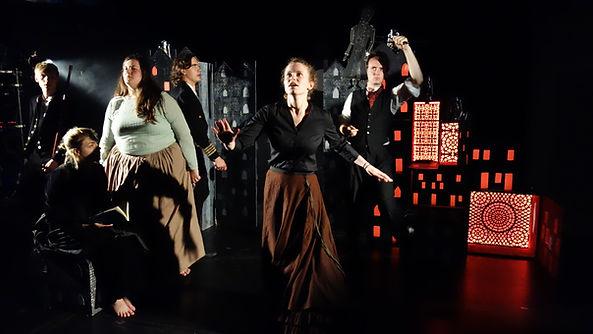 St Anne's, Revue, Revolution, Dining Hall, Abby Clarke, Set design, theatre, performance, Les Miserables, Oxford