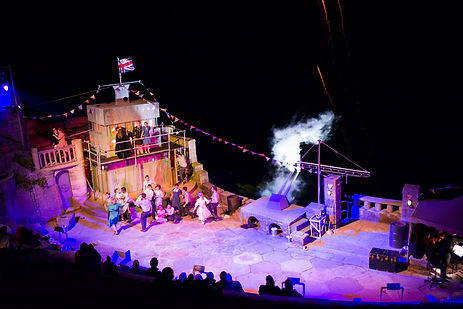Abby Clarke, Gilbert Sullivan, HMS Pinafore, Minack, theatre, set design, cornwall, cambridge, oxford