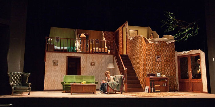 Abby Clarke, Set design, Living Together, Alan Ayckbourn, Norman Conquests, Oxford Playhouse