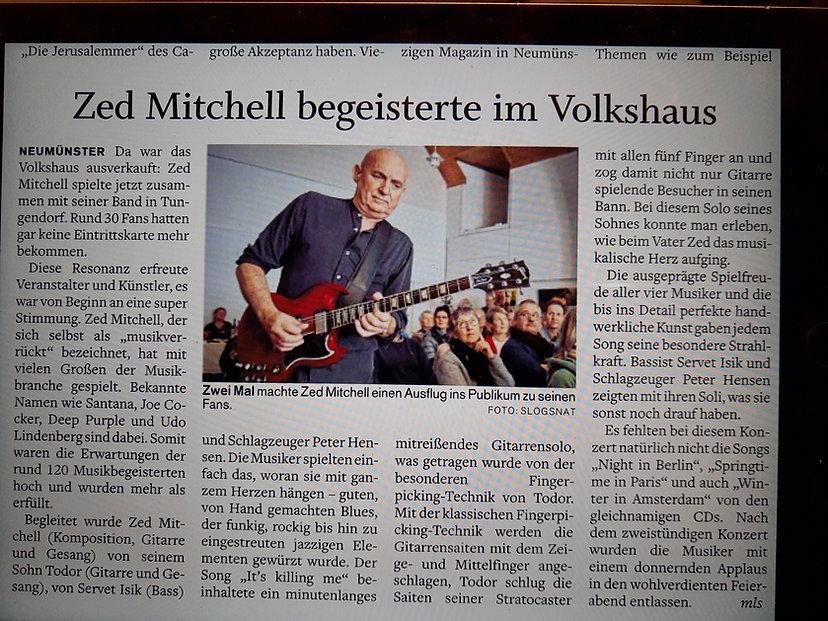 Artikel Volkshaus Tungendorf 12.01.2020.