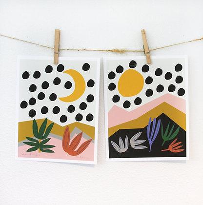 Abstract Marfa Print Set