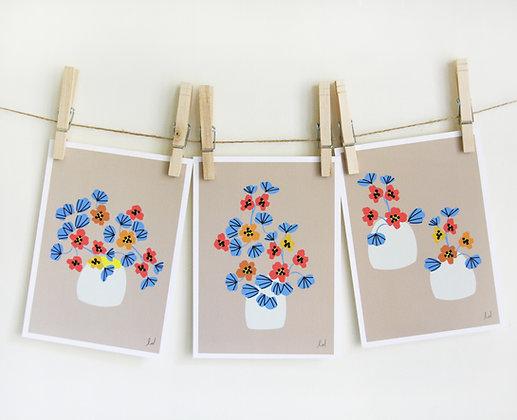Nasturtium Set of 3 Prints