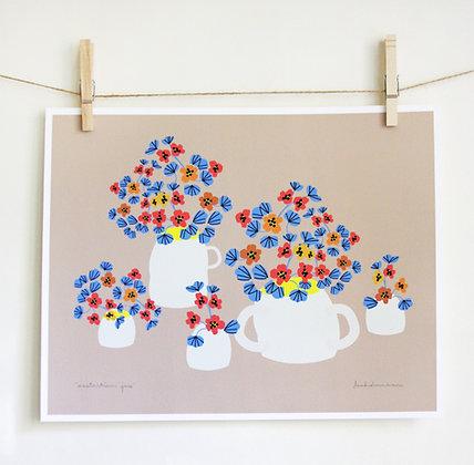 Nasturtium Jars Print