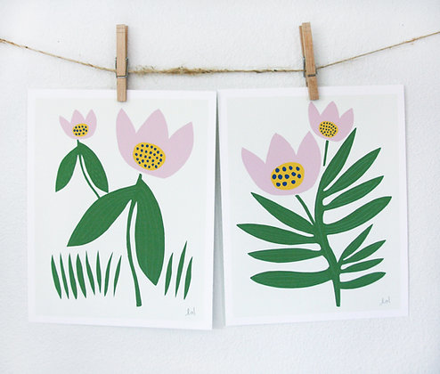 Two Tulips Print Set