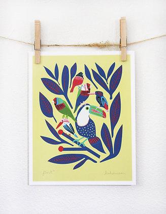 Flock Print