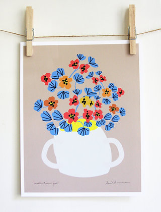 Nasturtium Jar Print