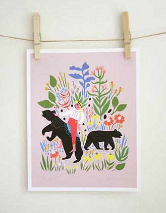 Bear Girl Print