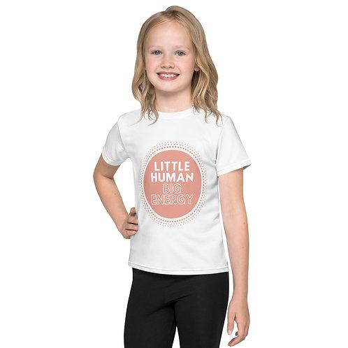 Little Human Big Energy Kids T-Shirt