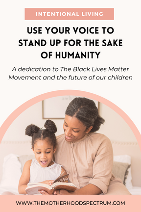 Use Your Voice to Stand For HUMANITY & For The Sake of Our Children's Futures