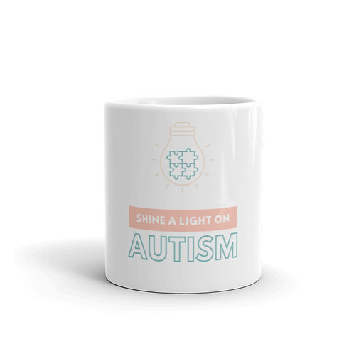 Shine a Light on Autism Mug