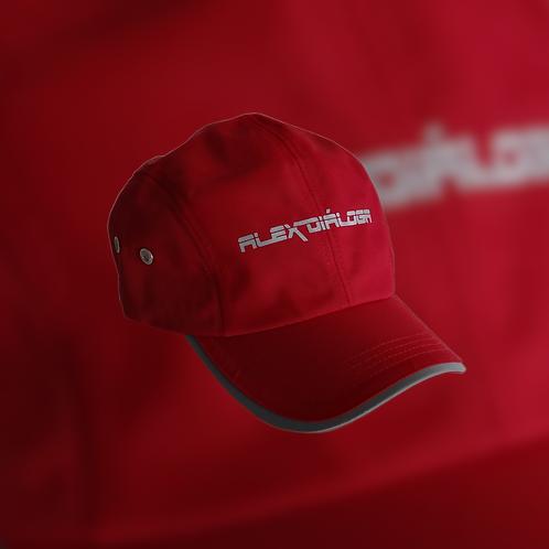 Gorra logotipo reflejante color roja
