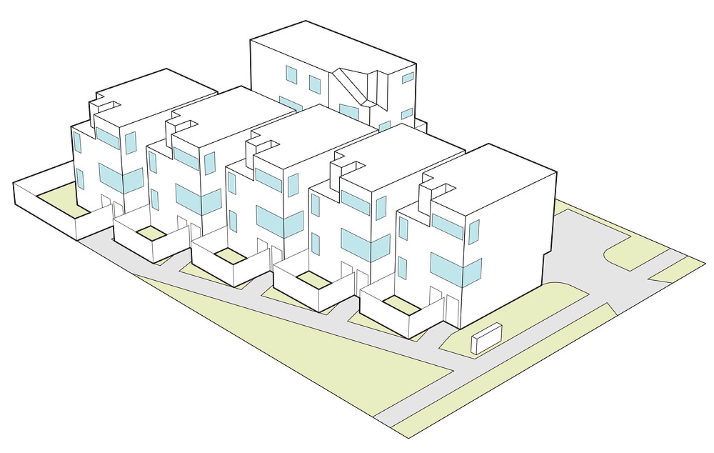 Apartment Block Drawing