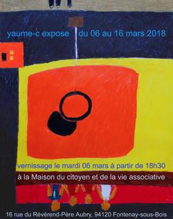 Affiche expo Maison du Citoyen 2018