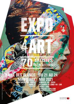 Affiche EXPO4ART mai 2021