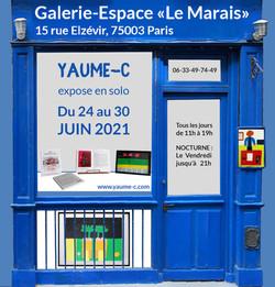 """Visuel Galerie Espace """"Le Marais"""" 2021"""