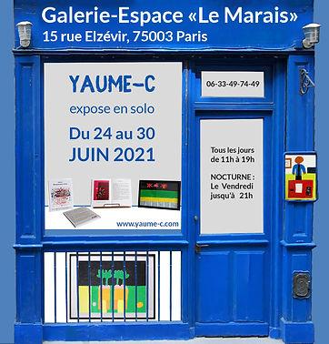 Invitation Galerie Espace Marais 2021