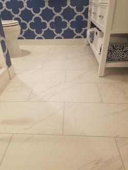Ceramic 12x24 Tile Floor-Brick Set