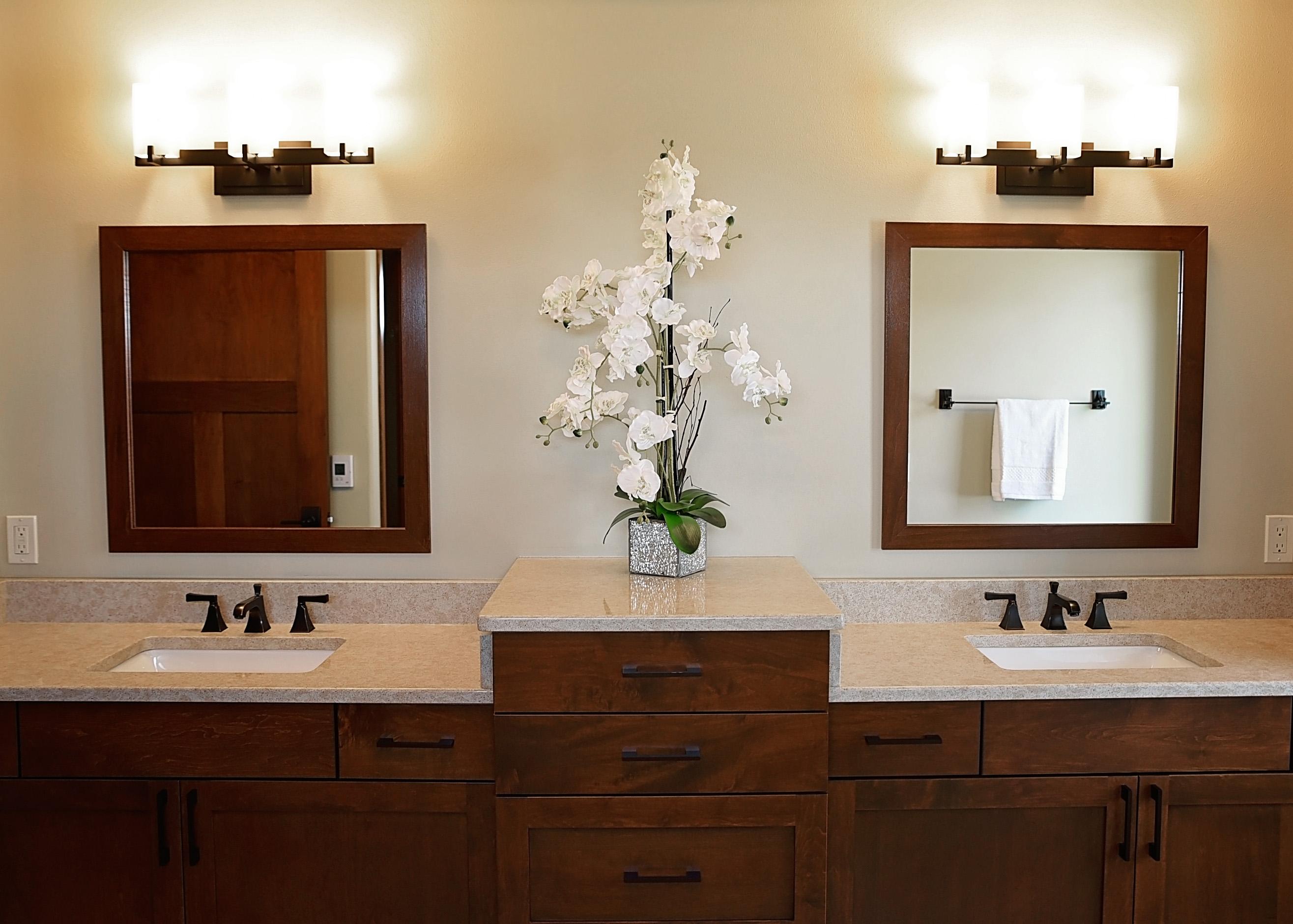 Staging of Master Bathroom