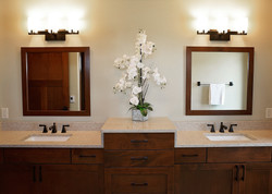 Staging of Master Bathroom