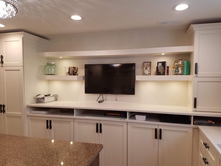 Floating Shelves, Roll Outs, Recessed Li
