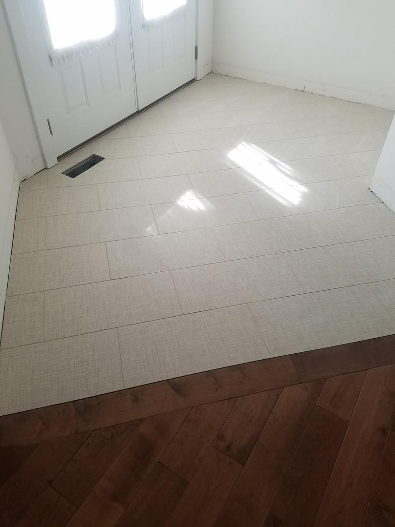 New Tiled Foyer Floor