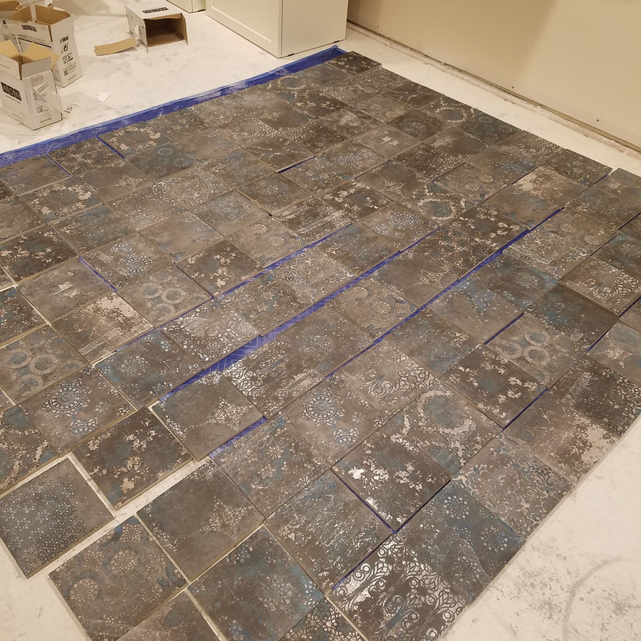 3 Hours Laying Out Tile!