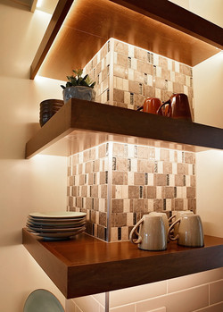 Staged Open Shelving
