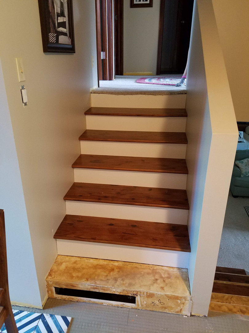 Stained Treads Installed