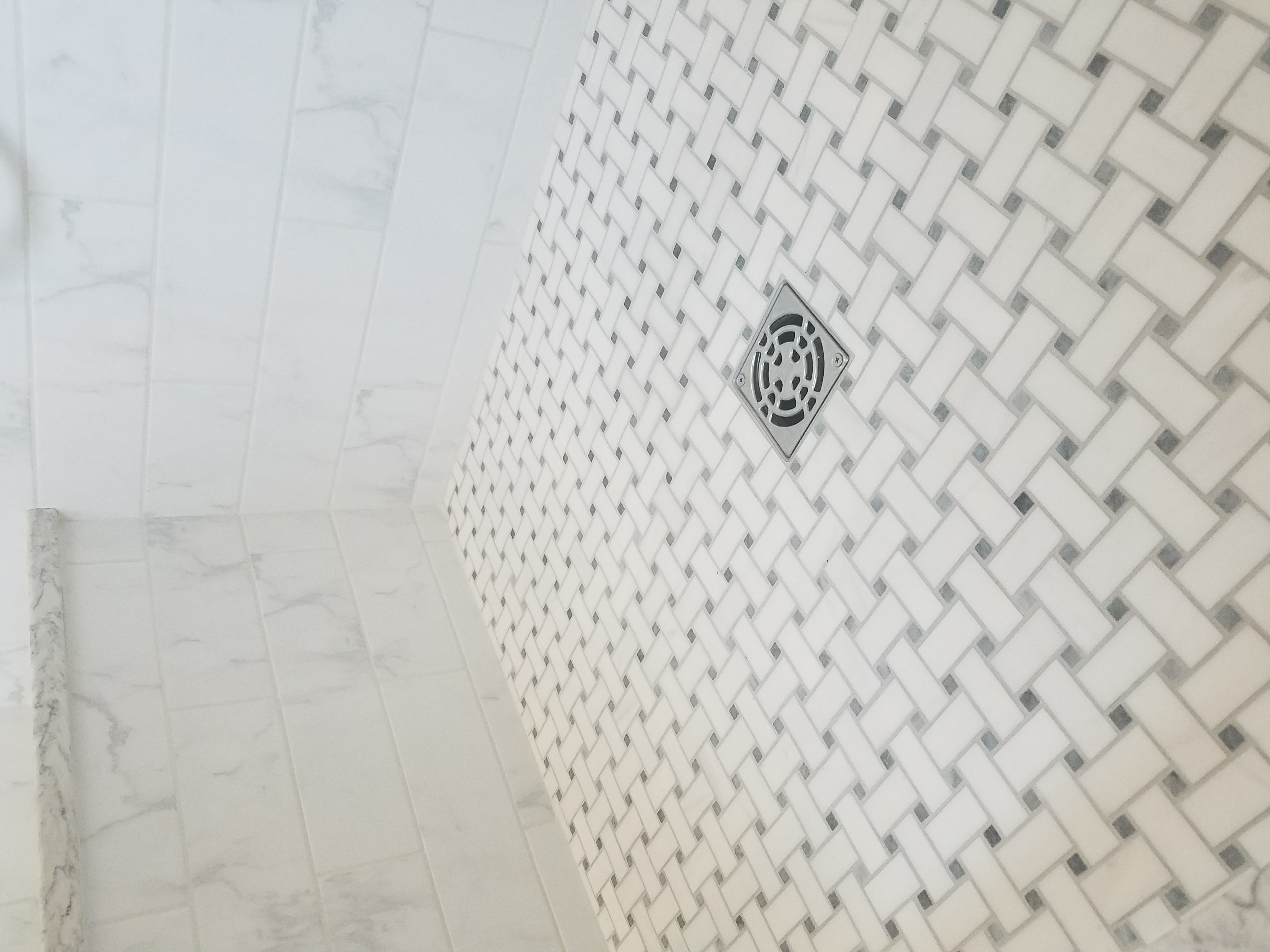 Coordinating Marble Shower Floor