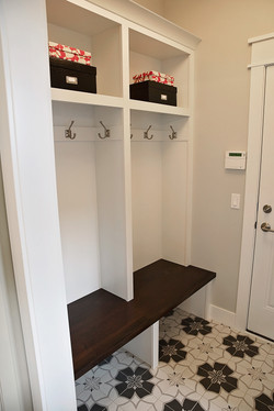 Patterned Tile-Mudroom