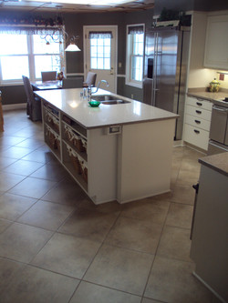 New Tile,Wall Color,Bronze Hardware