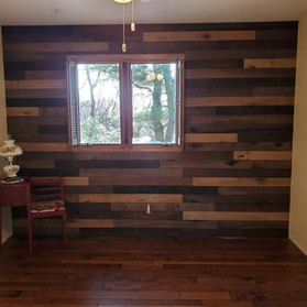 New Barn Wood Accent Wall