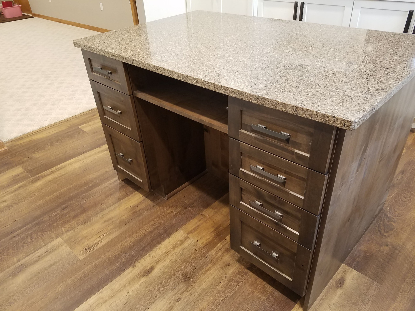Island Storage & Recycled Quartz Top