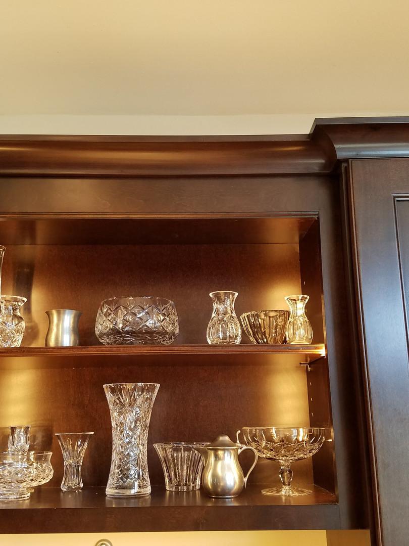 Open Display Cabinet w/Task Lighting