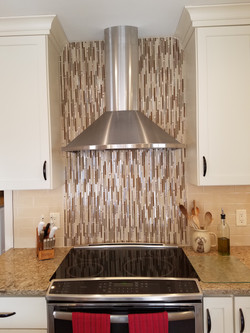 Stunning Glass Tile Accent Wall