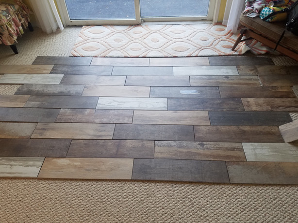 Laying Out Guest Bath Floor