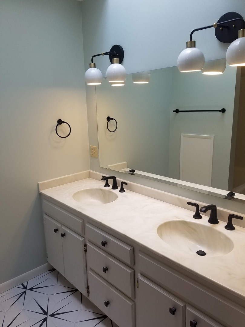 New Lighting, Faucets, Mirror & Hardware