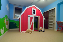 Painted Mural Walls&Custom Barn Bed